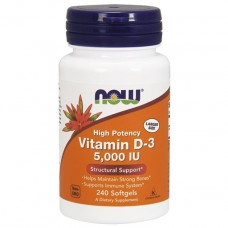 NOW, Vitamin D-3, 5,000 IU, 240 Softgels